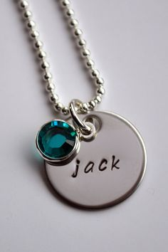 Personalized Necklace - Stainless Steel - Personalized Name Initial Jewelry - Mother's Jewelry - Custom Name Necklace. $15.00, via Etsy.