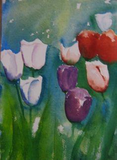 Aquarell Tulpen Format:23 x 33 cm