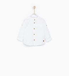 TEXTURED SHIRT WITH ROLL-UP SLEEVES-SHIRTS-BABY BOY | 3 months - 4 years-KIDS | ZARA United States