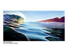 Blacks Wave No 4 giclee print of original by acrylic on canvas painting by Nathan Ledyard Art Wave Art, Surf Art, Beach Art, Sculpture Art, Giclee Print, Contemporary Art, Surf Travel, Art Pieces, Surfing
