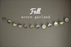 modern acorn garland via oleander and palm