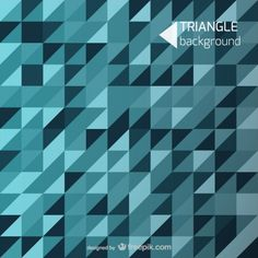 Blue background triangle shapes Free Vector