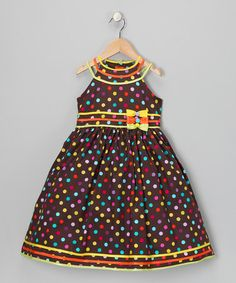 Take a look at this Rainbow Polka Dot Dress - Toddler & Girls by Pretty Me on #zulily today!
