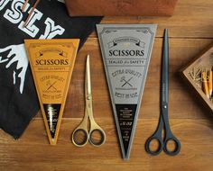 Such cute packaging for scissors (From Tools to Liveby / 禮拜文房具 https://www.facebook.com/ToolsToLiveby?fref=nf )