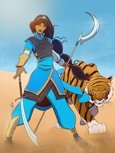 Desert-Warrior Jasmine by Michael Nozinich First Animation, Animation Film, Disney Animation, Dnd Characters, Female Characters, Warrior Princess Costume, Character Concept, Character Design, Powerpuff Girls Cartoon