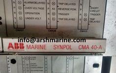 ABB MARINE SYNPOL CMA 40 A www.arshmarine.com