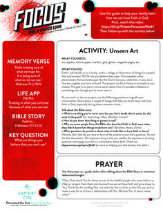 Use this guide to follow up today's video. Memory Verse, Faith In God, Your Family, Curriculum, Parenting, Student, Activities, Learning, Jr