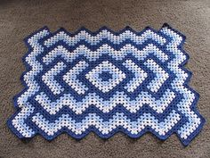 Ravelry: Project Gallery for Drop in the Pond Lap blanket pattern by Elizabeth Ham