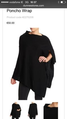 Bought this @paulcostelloeuk for Dunnes #poncho also comes in grey