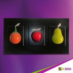 #Bodegón Decorativo - Frutas, producto elaborado en #madera de primera calidad. Cómpralo en SUZONA.com