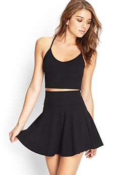 I really need the basic closet essentials and I think a black skater skirt is one of the things I need     via forever21