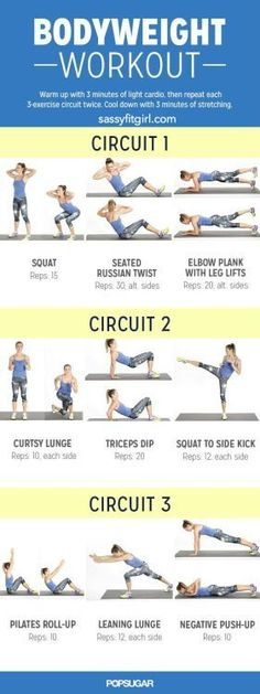 Bodyweight Workout for Women Found this awesome   Sassy Fit Girl
