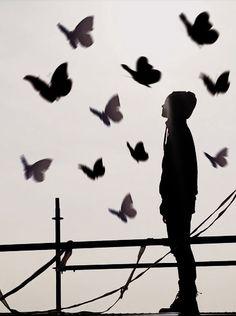 like a butterfly.