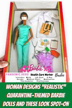 #Woman #Designs #Realistic #Quarantine #Themed #Barbie #Dolls #Spot