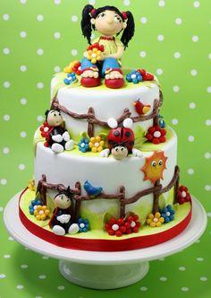 Colourful Girly Bugs Cake