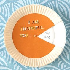 """""""I Am Thankful For…"""" Pumpkin Pie Spinner - 99 Crafting                                                                                                                                                                                 More"""