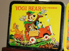 Yogi Bear and Friends lunch box, 1961 by kerrytoonz...I didn't have this one but I did have the Yogi Bear board game
