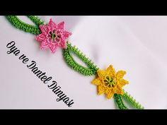 Yaprak motifli Köprülü Tığ Oyası Yapımı - YouTube Tatting Necklace, Tatting Jewelry, Irish Crochet, Crochet Lace, Crochet Borders, Crochet Patterns, Saree Kuchu Designs, Creative Embroidery, Necklace Tutorial