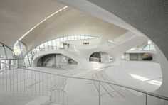 The, now renovated, T.W.A. Flight Center from 1962, at John F. Kennedy International Airport by Eero Saarinen