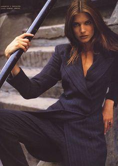 Stephanie Seymour by Sante D'Orazio for Vogue Italia, July 1992.