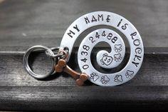 Swirl Dog ID tag