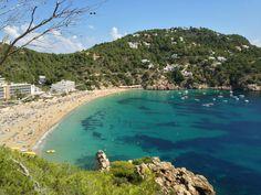 Beautiful cove beach along the SE coast of Ibiza, Spain