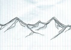 Quick 3 min mountain sketch with ballpoint pen- i do this all the time!