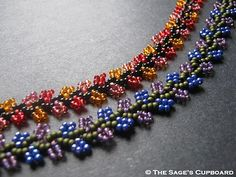 Tutorial for Nepal Chain Stitch (beading)...would make some lovely bracelets or necklaces!