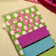 Post it holder. Made using $1 store picture frame.