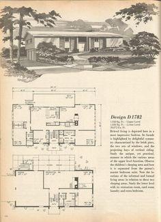 1000 images about split level homes on pinterest split for Split level house plans 1960s