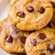 Sally's Baking Addiction Pumpkin Chocolate Chip Cookies-5 chewy not cakey, no eggs added