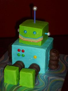 robot cake ideas for what to use to decorate one