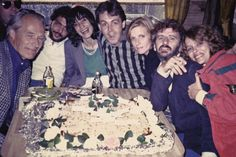George Martin, Steve Gadd and his lady, Paul and Linda, Ringo and Barbara. Montserrat, February 1981 Photo: © Ringo Starr