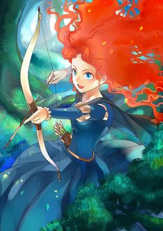Merida as she might look if Miyazaki had designed her…