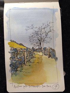 The path to Wansfell by John Harrison, artist, via Flickr