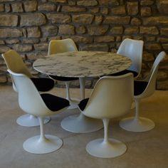 Located using retrostart.com > Dinner Set by Eero Saarinen for Knoll International