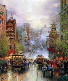 by Thomas Kinkade ~ I love his work. I will own one of his paintings one day.