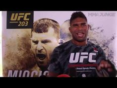 MMA Alistair Overeem media scrum at UFC 203 open workouts