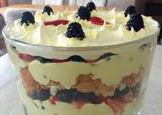 Most Popular Lemon Desserts | Outrageous Lemon Berry Trifle