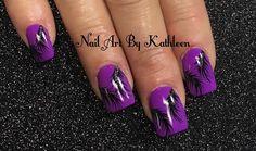 "32 Likes, 1 Comments - Nail Art By Kathleen (@nailartbykathleen) on Instagram: ""Black Feathers On Purple #nails #nailart #naildesign #notd #nails2017 #nails2inspire #nailsart…"""