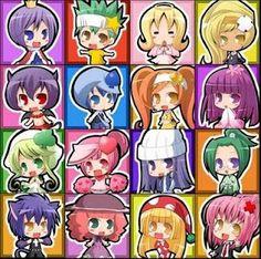 Kiseki, Daichi, Eru, XDia, Iru, Miki, Dia, Temari, Su, Ran, Rhythm, Musashi, Yoru, Nana, Kusukusu and Amu - chibi ^^