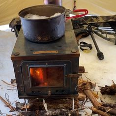 Tent Wood Stove (Titanium) for Backpacking - Modern Camping Stove, Tent Camping, Camping Gear, Outdoor Camping, Camping Hacks, Travel Hacks, Bushcraft Camping, Camping Survival, Survival Tips