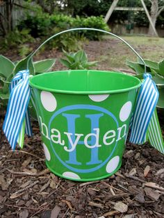 cute easter bucket. And that's also my last name!!