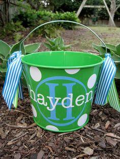 cute easter bucket