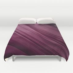 Purple Waves Duvet Cover  #duvetcover #duvet #purple #abstract #waves