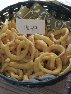 Real onion rings would be super! | Hobbit / Lord Of The Rings Birthday Party Ideas | Catch My Party