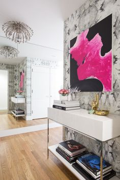 Eclectic chic apartment: http://www.stylemepretty.com/living/2015/06/04/a-ladylike-apartment-with-a-humorous-side/   Photography: Emily Sidoti - http://www.emilysidoti.com/