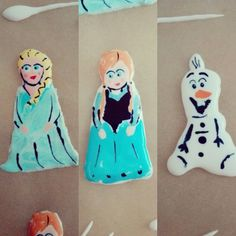 Frozen characters out of icing