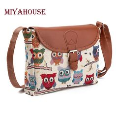 Cheap handbag inner bag, Buy Quality bag briefcase directly from China handbag kitty Suppliers: Miyahouse Summer Women Messenger Bags Flap Bag Lady Canvas Cartoon Owl Printed Crossbody Shoulder Bags Small Female Handbags Crossbody Tote, Crossbody Shoulder Bag, Clutch Bag, Shoulder Bags, Satchel Bag, Shoulder Strap, Bags 2017, Canvas Messenger Bag, Women's Handbags