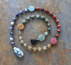 """Elements:  #Elements ~ """"The Old Ways"""" Pagan Prayer Beads for Meditation, by IndigoDesertMoon."""